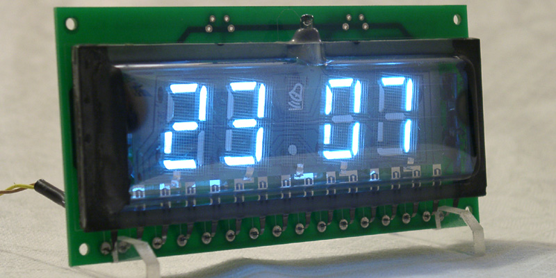 ILC4-5/7 four digits slim design VFD Clock